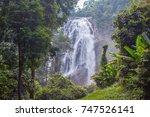 klonglan waterfall at khlong... | Shutterstock . vector #747526141