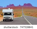 recreational vehicle on the... | Shutterstock . vector #747528841