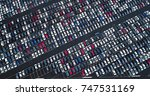 car park and truck | Shutterstock . vector #747531169