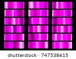 abstract pink geometrics set of ... | Shutterstock .eps vector #747538615