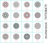 collection of 16 simple round... | Shutterstock .eps vector #747538675