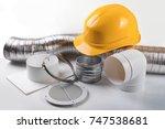 ventilation system equipment... | Shutterstock . vector #747538681