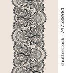 vertically seamless beige... | Shutterstock . vector #747538981