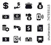 16 vector icon set   dollar ... | Shutterstock .eps vector #747555115