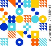 abstract modern geometric...   Shutterstock .eps vector #747555469