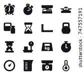 16 vector icon set   alarm