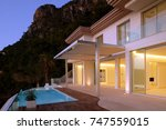 villa on the mountain with pool | Shutterstock . vector #747559015