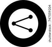share button black icon