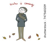 winter is coming concept with... | Shutterstock .eps vector #747560209