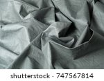 crumpled fabric background and... | Shutterstock . vector #747567814