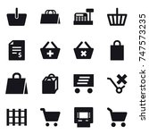 16 vector icon set   basket ... | Shutterstock .eps vector #747573235