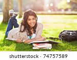 a shot of an asian student... | Shutterstock . vector #74757589
