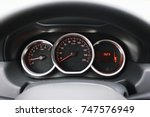 the dashboard in the car.... | Shutterstock . vector #747576949