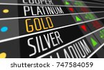 global gold price on the stock... | Shutterstock . vector #747584059
