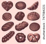 bakery products. design set....   Shutterstock .eps vector #747584221