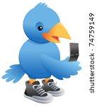 social media blue bird | Shutterstock .eps vector #74759149