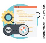 game development and video... | Shutterstock .eps vector #747591535
