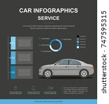 business info  with car. car... | Shutterstock .eps vector #747595315