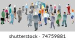 people go to the business... | Shutterstock . vector #74759881