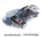 Glass Auto On White Background.....