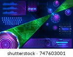 abstract futuristic science... | Shutterstock .eps vector #747603001