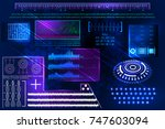 abstract futuristic science... | Shutterstock .eps vector #747603094