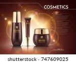 cosmetics vector realistic... | Shutterstock .eps vector #747609025