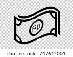 simple icon  waving rupiah...   Shutterstock .eps vector #747612001