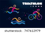 set of vector color line...   Shutterstock .eps vector #747612979