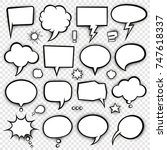 a set of comic bubbles and...   Shutterstock .eps vector #747618337
