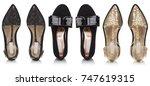 set  three pairs of luxury... | Shutterstock . vector #747619315