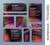 vector banners set with purple... | Shutterstock .eps vector #747621001