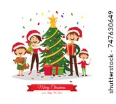 merry christmas and a happy new ... | Shutterstock .eps vector #747630649
