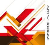 creative futuristic graphic... | Shutterstock .eps vector #74763340
