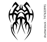 tattoo tribal vector design.... | Shutterstock .eps vector #747633991