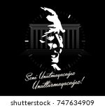 november 10   ataturk death... | Shutterstock .eps vector #747634909