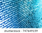 monitor closeup of function... | Shutterstock . vector #747649159