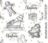 Christmas Seamless Background...