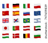national flag icon set.... | Shutterstock .eps vector #747659839