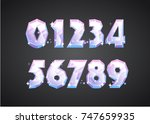 diamond font in the cartoon... | Shutterstock .eps vector #747659935