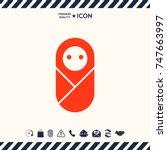infant  neonate  newborn icon | Shutterstock .eps vector #747663997