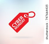 cyber monday tag. vector... | Shutterstock .eps vector #747664435