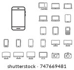 smartphone icon in set on the...   Shutterstock .eps vector #747669481