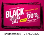 black friday sale banner layout ... | Shutterstock .eps vector #747670327