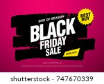 black friday sale banner layout ... | Shutterstock .eps vector #747670339