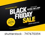 black friday sale banner layout ... | Shutterstock .eps vector #747670354
