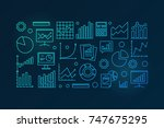 business analysis and research... | Shutterstock .eps vector #747675295