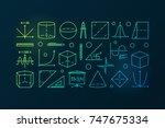 trigonometry and mathematics...   Shutterstock .eps vector #747675334