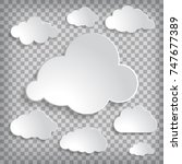 vector illustration of clouds... | Shutterstock .eps vector #747677389
