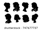 Woman Head Silhouette  Face...